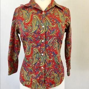 Lauren Ralph Lauren Multi Shirt Size PM (B-70)